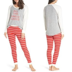 MAKE + MODEL Holiday Striped Pant Top Pajamas Set